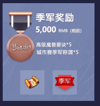 城市赛季军奖励